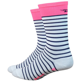 "DeFeet Aireator 6"" Fietssokken, sailor-white/navy/flamingo pink"
